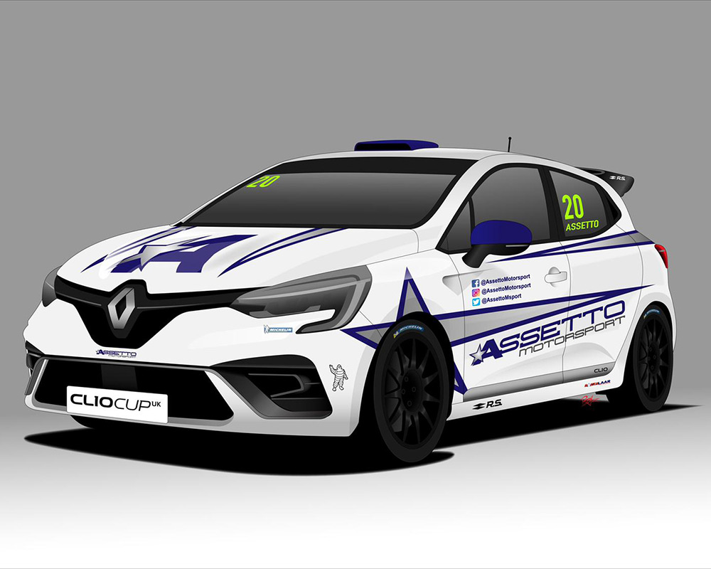 Assetto reveals concept livery for 2020 Clio Cup UK race car - Click here to view this entry